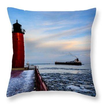 Heading Out Throw Pillow by Randy Scherkenbach
