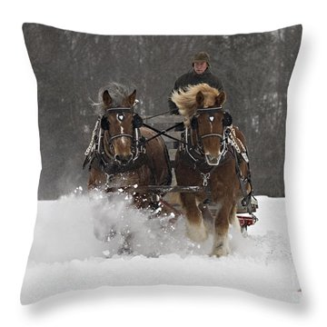 Heading To The Finish Throw Pillow by Carol Lynn Coronios