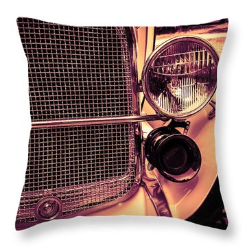 Headlight And Horn Throw Pillow