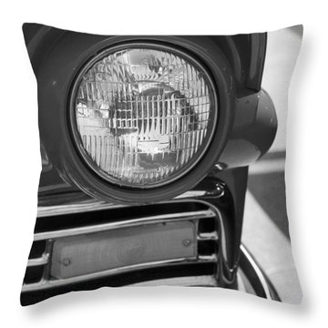 Throw Pillow featuring the photograph Headlight Black And White by Denise Beverly