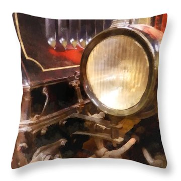 Headlight From 1917 Truck Throw Pillow by Susan Savad