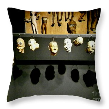 Throw Pillow featuring the photograph Heads Will Roll by Newel Hunter
