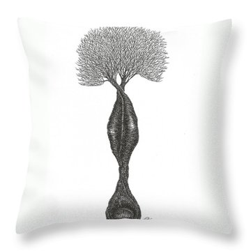Headstand Throw Pillow