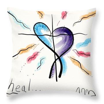 Heal... Throw Pillow by Jason Nicholas