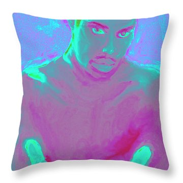 Heal My Blues Throw Pillow by Vannetta Ferguson