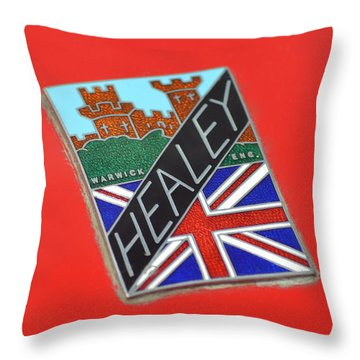 Healey Silverstone D Type Throw Pillow by Frozen in Time Fine Art Photography