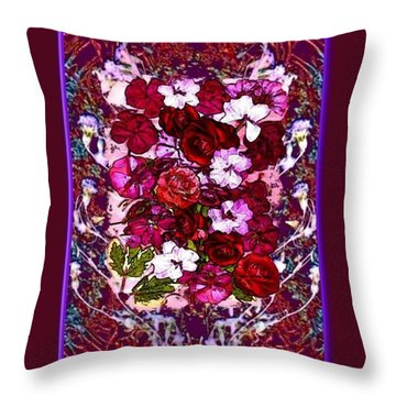 Healing Flowers For You Throw Pillow by Ray Tapajna