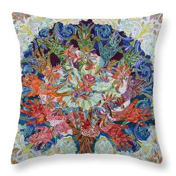 Healing Hands Throw Pillow by Erika Pochybova