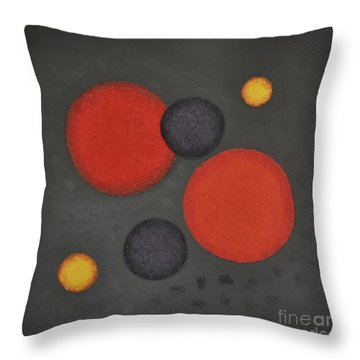 Throw Pillow featuring the painting Healing Hands by Mini Arora