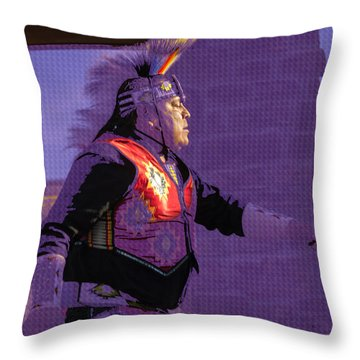 Healing Hoop Man 31 Throw Pillow