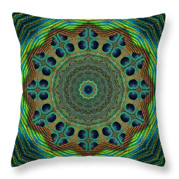 Throw Pillow featuring the photograph Healing Mandala 19 by Bell And Todd