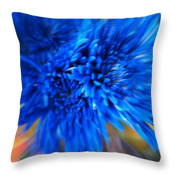 Throw Pillow featuring the photograph Healing Of A Flower by Sherri  Of Palm Springs