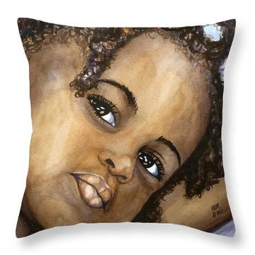 Nigerian Eyes Throw Pillow