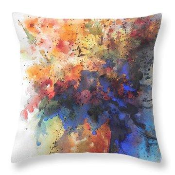 Healing With Blue Throw Pillow by Chrisann Ellis