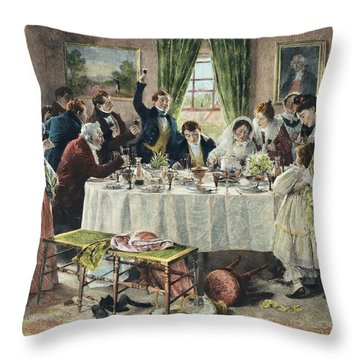 Health To The Bride, Published 1933 Throw Pillow