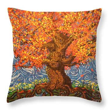 Healthy At Home Tree Throw Pillow