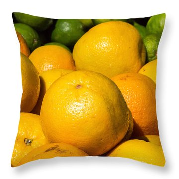 Healthy Oranges Throw Pillow