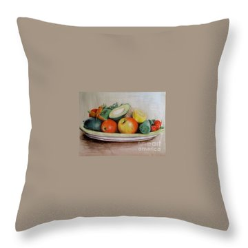 Healthy Plate Throw Pillow