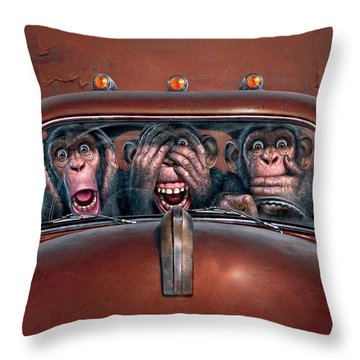 Driver Throw Pillows