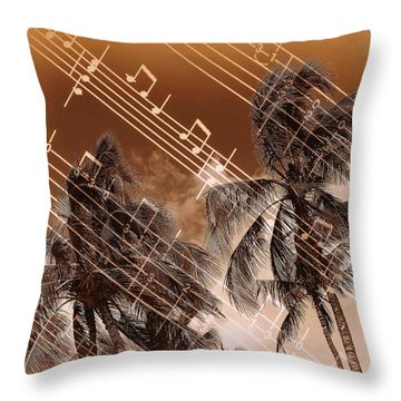 Hear The Music Throw Pillow