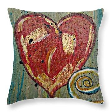 Heart 2 Throw Pillow
