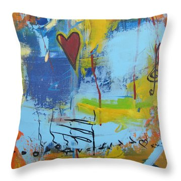 Heart 3 Throw Pillow