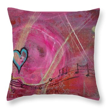 Heart 4 Throw Pillow