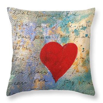 Heart #9 Throw Pillow