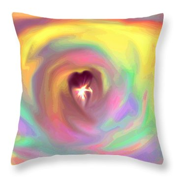 Heart Abstract Throw Pillow by Marianna Mills