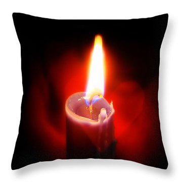 Heart Aflame Throw Pillow by Sennie Pierson