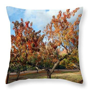 Heart Autumn Tree Throw Pillow