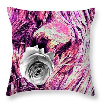 Heart Bark Neptune Rose Throw Pillow by Marlene Rose Besso