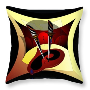 Heart Break Throw Pillow