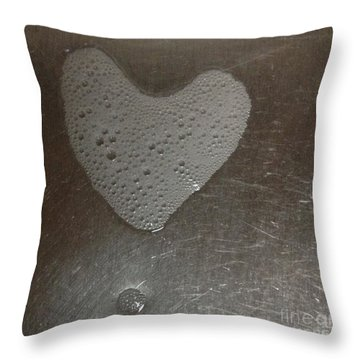 heART bubbles Throw Pillow