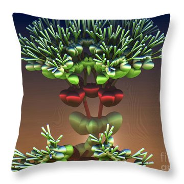 Throw Pillow featuring the digital art Heart Bush by Melissa Messick