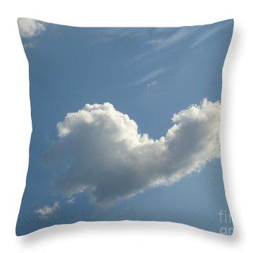 Heart Cloud Sedona Throw Pillow