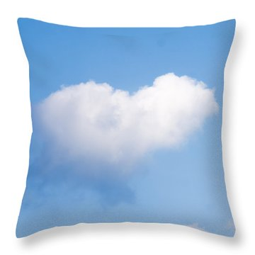 Heart Cloud Throw Pillow by Shirley Tinkham