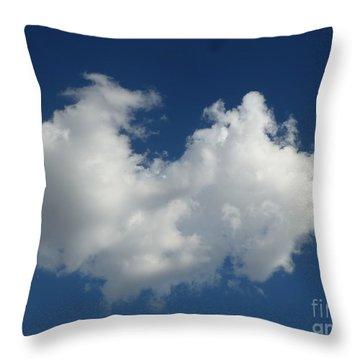 Heart Clouds Bell Rock Vortex Throw Pillow