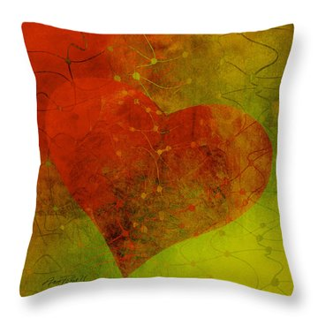 Heart Connections Three Throw Pillow
