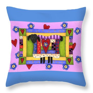Heart For Ewe Throw Pillow by Tracy Campbell