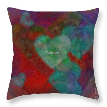 Heart Glow Throw Pillow