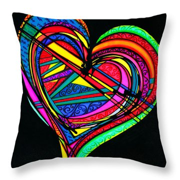 Heart Heart Heart Throw Pillow