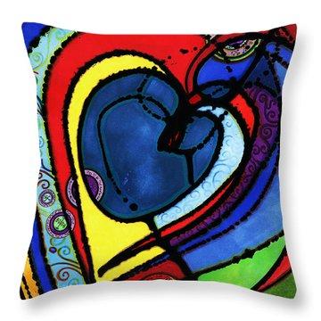 Heart II  Throw Pillow