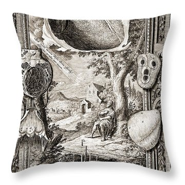 Heart Illustrated As Pumping Machine Throw Pillow by Wellcome Images