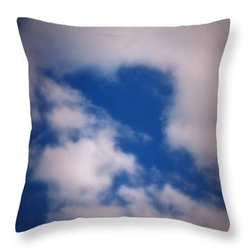 Throw Pillow featuring the photograph Heart In The Clouds by Tara Potts