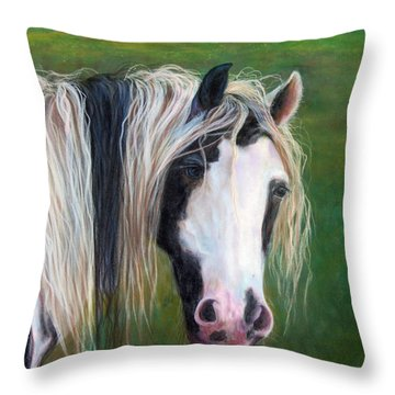 Throw Pillow featuring the painting Heart by Karen Kennedy Chatham