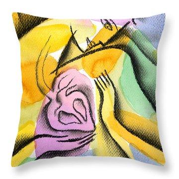 Heart Throw Pillow by Leon Zernitsky