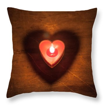 Throw Pillow featuring the photograph Heart Light by Aaron Aldrich