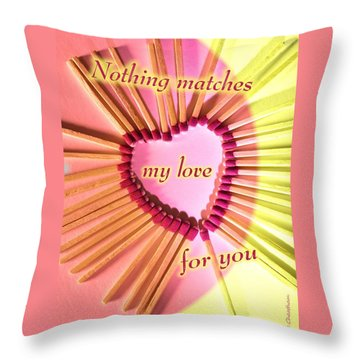 Heart Matches Throw Pillow