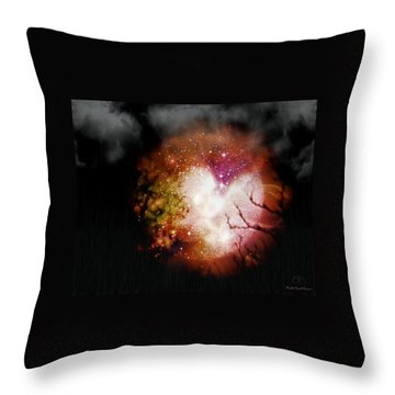 Heart Planet Throw Pillow